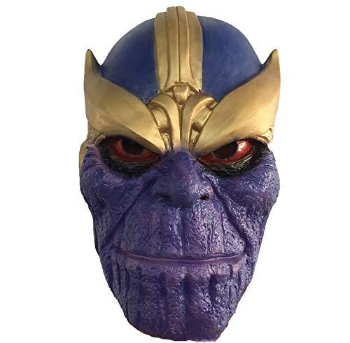 Thanos masker, masker Latex hoofddeksels volledige hoofd volwassen tieners helm Halloween Cosplay kostuum prop