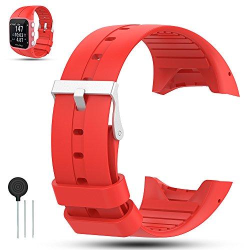 Für Polar M400/M430 GPS Smart Uhrenarmband, iFeeker Zubehör Weiche Silikon Gummi Ersatz Armband Armband Sport Armband für Polar M400/M430 GPS Uhr, Rot
