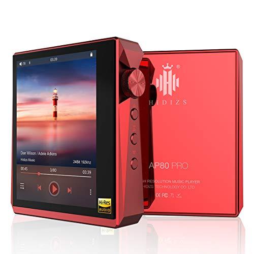HIDIZS AP80 Pro HiFi MP3 es un Reproductor de música sin pérdidas, con función Bluetooth LDAC/aptX/FLAC, Compatible con Reproductor de Audio de Alta resolución con Pantalla táctil Completa (Ro