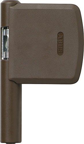 ABUS Scharnierseitensicherung FAS101 - Fenster-Zusatzschloss für die Scharnierseite - ABUS-Sicherheitslevel 10 - 24487 - Braun