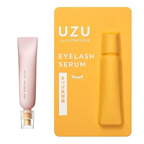 UZU BY FLOWFUSHI (ウズバイフローフシ) UZU まつげ美容液 (まつげ・目もと美容液) 指で塗るだけ 眉毛にも ノンパラベン アルコールフリー 合成着色料フリー 低刺激性
