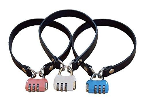 BDSM Halsband mit Zahlenschloss Lederhalsband Halsschmuck Sklavenhalsband