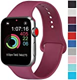 AK Compatible Apple Watch Bracelet 42mm 38mm 44mm 40mm, Bracelet de Sport en Silicone Remplacement...