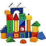 HABA FantaStack Blocks - 26 Piece Fantasy Themed Building Set with Bright Designs & Prism Triangles