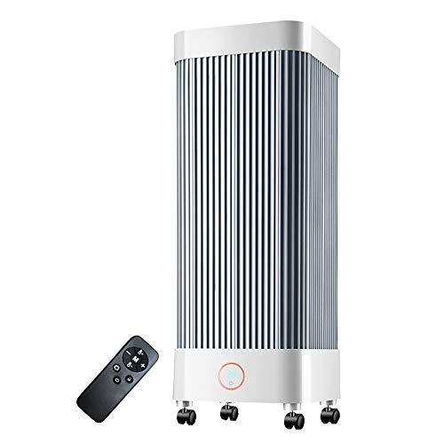 Xiao Jian-verwarmingstoestel voor thuis, draagbare koolstofvezelverwarming met afstandsbediening, 2000 W, verticale space-verwarming voor woonkamer, slaapkamer, kantoor, 9 uur timer, kantelbeveiliging