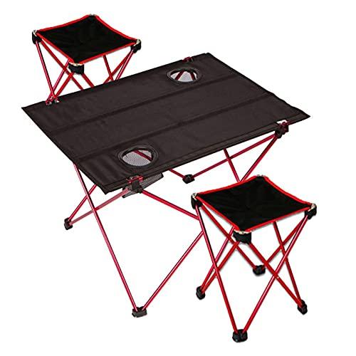 Tragbarer Klapptisch im Freien, Camping-Tisch, kleiner Klapptisch, Angelstuhl/Strandtisch, Camping-Klapptisch-Set (Size : Tables and chairs)