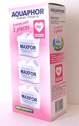 AQUAPHOR MAXFOR (B25) Mg Pack de 3 cartouches filtrantes AQUALEN Blanc 200 L