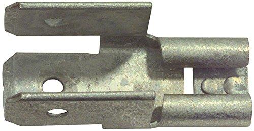 Valueline 100er Pack Kabelschuh Fast On 6.3 mm Female PVC Silber, Kabelsteckschuhe Nicht isoliert (973977002376)
