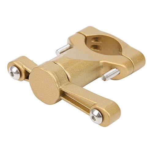 DAUERHAFT Portabidón Asiento de conversión Taza de Agua Superficie anodizada Adaptador práctico Alta Estabilidad, para Bicicleta de montaña(Golden)