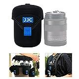 JJC Funda protectora para lentes Canon Fuji Olympus Nikon Sony, neopreno suave resistente al agua, funda de viaje con mosquetón (tamaño interior 6,6 x 7,9 cm)