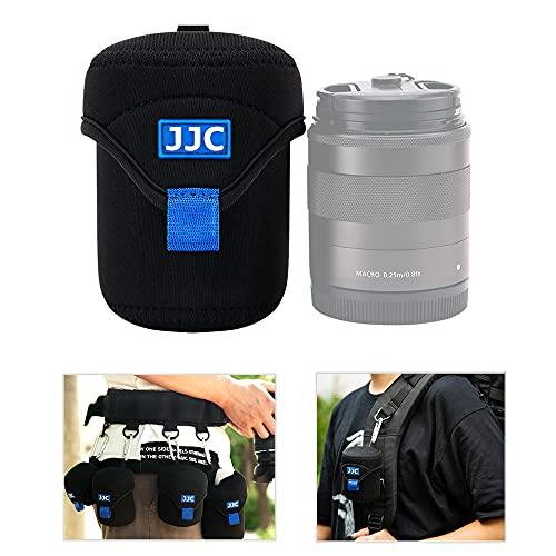 JJC - Custodia protettiva per custodia per obiettivi mirrorless per obiettivi Canon Fuji Olympus Nikon Sony (dimensioni interne 2,6 x 3,1')