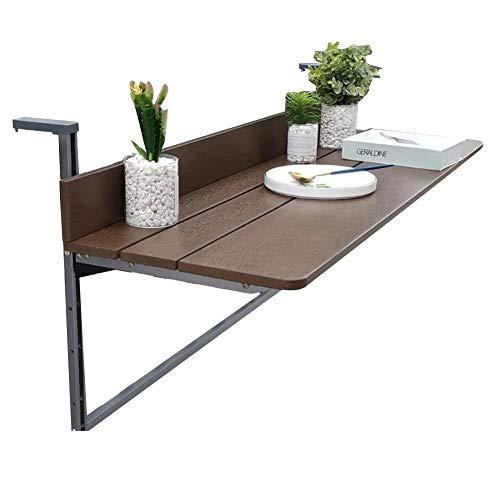 Wangczdz Draagbaar bureau, multifunctionele balkon, tafel om op te hangen, inklapbaar, eettafel in de buitenlucht