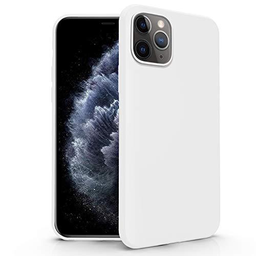 N NEWTOP Funda compatible para Apple iPhone 11 Pro Max, funda de TPU suave gel silicona ultra fina flexible carcasa trasera protectora (blanco)