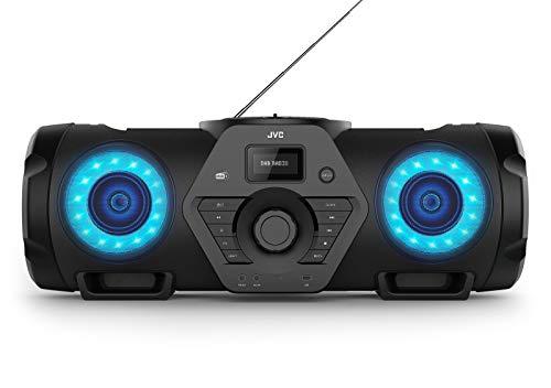 JVC Boomblaster RV-NB300DAB, 2 x 30 Watt, DAB+, UKW, Bluetooth, CD, USB, Line-In, Gitarren- & Mikrofoneingang, Fernbedienung