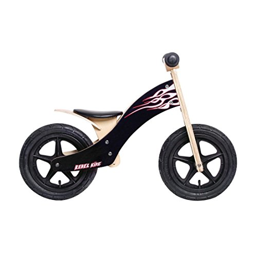 Rebel Kidz Wood Air Draisienne 12' Enfant, Flames/Black