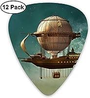 スチームパンクな飛行船の妖精スターダストスペース エレクトリックギターアコースティックギターマンドリンとベース用のクラシックギターピックセット(12パック) One Size