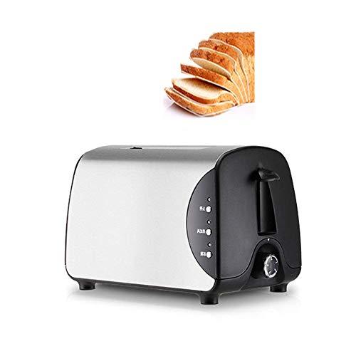 Tostadora de cinco velocidades de doble cara de hornear ensanchamiento ranura de tarjeta de acero inoxidable sandwichera máquina de desayuno, 750W [Energy Class A]
