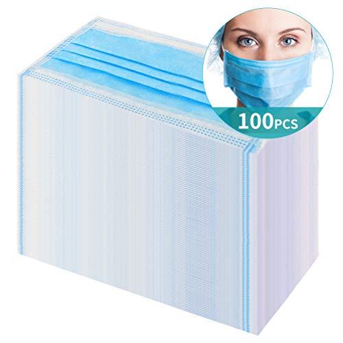 ikeepi 100 Stück 3-Schicht-Einweg Respiratory Ventilatem Filter atmungsaktiv (100 Stück)