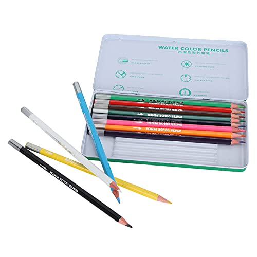 12 lápices de colores, núcleos a base de cera suave suministros de...