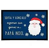 NANNUK - Felpudo Personalizado Goma Esperan con ganas a Papá...
