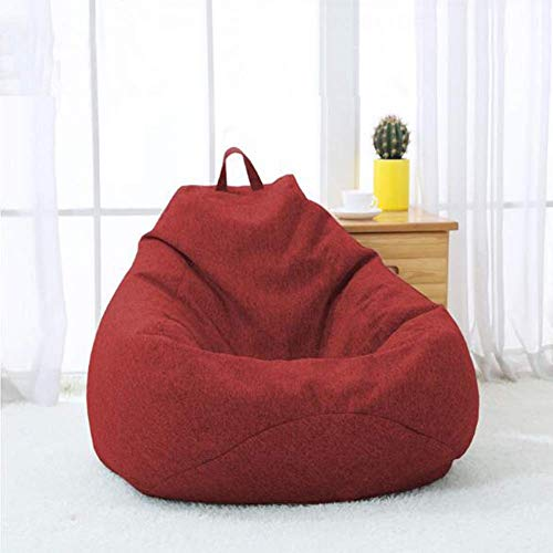 QTQZDD zitzak Recliner zitzak Giant zitzak vulling gaming zitzak ligstoel indoor/outdoor tuinmeubelen inklapbaar (kleur: crèmewit, afmetingen: 90x110 cm) 26 EU 26