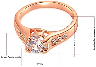 Ring 18k Gold Plated Polish Rings For Women, Size 6