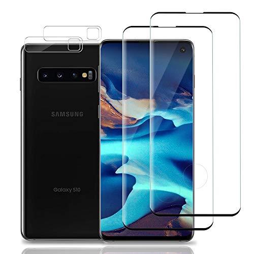 Bodyguard Panzerglas Schutzfolie für Samsung Galaxy S10 [2 Stück]+ S10 Kamera Panzerglas[2 Stück], 9H Härte HD Displayschutzfolie, [Anti-Kratzer/Bläschen/Fingerabdruck] Panzerglasfolie