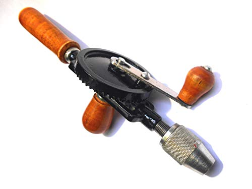 Toolzone Double Pinion 1/4' Hand Drill Wood Handle