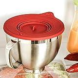 Tapa de silicona para cubrir alimentos en el recipiente apta para el lavavajillas   Accesorios KitchenAid Cubierta de tazón con válvula de aire para tazones de 3l, 4,3l y 4,8l para cocinar hornear