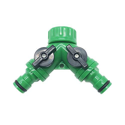 Dostawy ogrodnicze Tryskacze Irygacja Y Złącze adaptera Splitter Resealable Dotknij 2 Way Zawór Szybki sprzęgający system nawadniania Drip