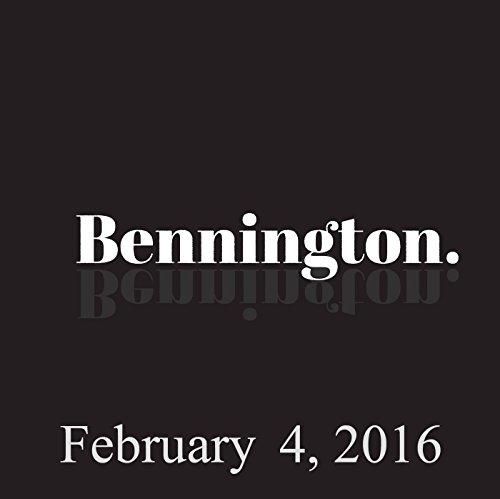 Bennington, February 4, 2016 audiobook cover art