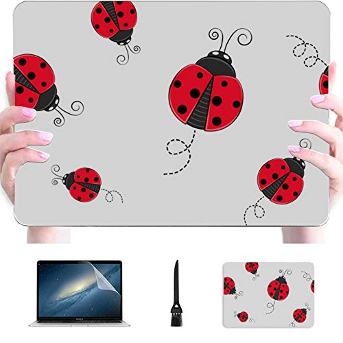 Laptop Macbook Pro Gentle Colorful Cute Ladybug Plastic Hard Shell Compatible Mac Air 13'Pro 13' / 16'Macbook Shell Cubierta Protectora para Macbook 2016-2020 Versión