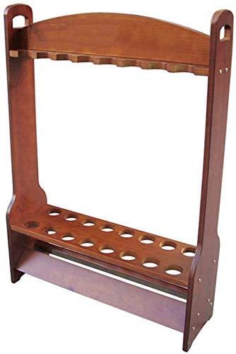 Tqjz Dx Familie Billardzimmer Zubehör - Pool Billard Queue Ständer, Massivholz-Display Rack 16 Löcher Billiard Supplies stabil