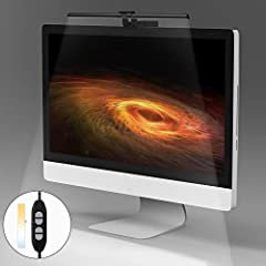 【No Screen Glare & Non-flickering】This screen e-reading led lamp with suspension design that the lights coming from the front and center, provides enough light for your desk and keyboard while avoiding reflectively glare off computer screen. Led read...