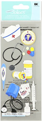 Jolee's Boutique 50-10026 Sticker 3D Nurse Accessories, Multicolor