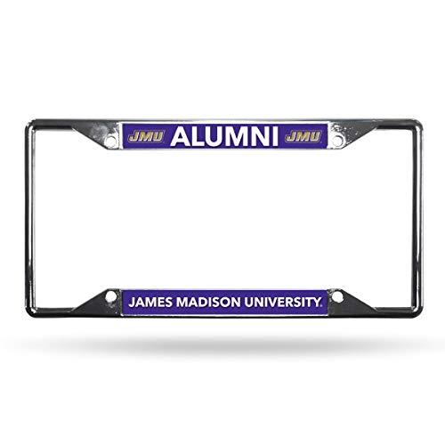 Rico James Madison Dukes Alumni Lightweight Chrome Metal License Plate Frame