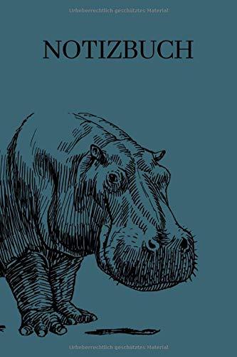Notizbuch: Notizbuch DotGrid Organizer Planer Nilpferd für Männer und Frauen , Mädchen und Jungen   A5 Liebhaber für Nilpferd oder Hippo A5 6x9 Tagebuch 120 Seiten