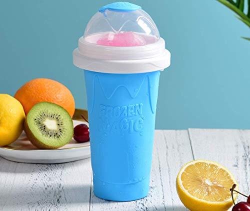 Vasos para hacer granizados caseros mágicos congelados para hacer smoothie cup, capacidad de 300 ml (uso en gran capacidad 210 ml) (azul)