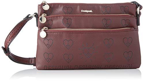 Desigual Bag True Love Durban, A Tracolla Donna, Rosso (Ruby Wine), 17.5x4x27.2 centimeters (B x H x T)