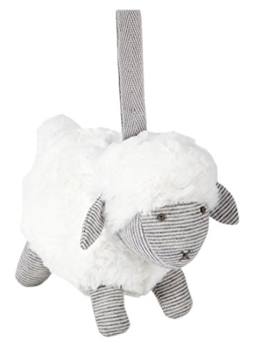 Mamas & Papas Welcome to The World Chime Sheep Soft Toy, Perfect for Travel, Pram, Pushchair, Cot, Suitable from Birth - Grey Sheep