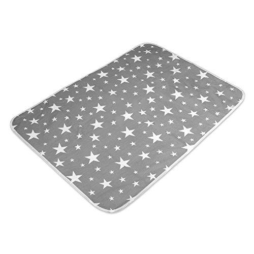 Letech® Wickelunterlage für Babys und Kleinkinder, wasserdicht, waschbar, wiederverwendbare Windel Matte (XL (80 * 110cm))