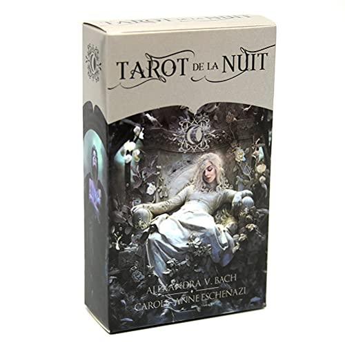 Tarot de la Nuit Tarjetas Oracle Tarjeta Adivinación Divinación Entretenimiento Tabla de Mesa Tablero Deck Games Family Tarjetas de Juego