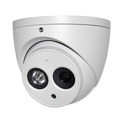 6MP Outdoor PoE IP Camera IPC-HDW4631C-A 2.8mm, Dome Security Camera with Audio, Built-in Mic, IR 164ft Night Vision, Smart H.265 WDR, IVS, IP67, International Version
