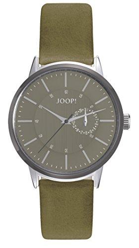 Orologio Uomo Quarzo Joop! display Analogico cinturino Pelle Verde e quadrante Grigio JP101921002