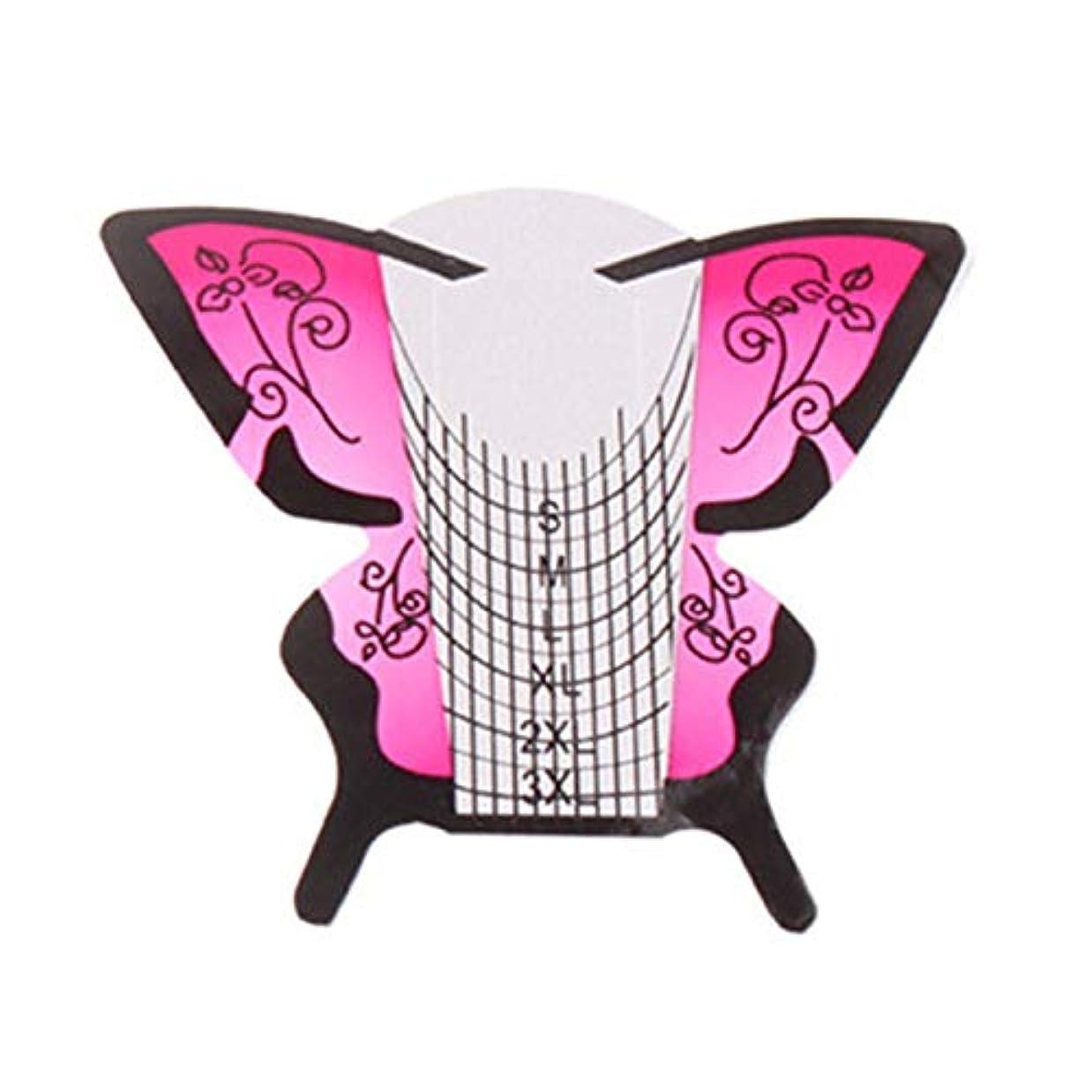 支給ブレイズ確率RETYLY 300個/ロール ネイルアートフォーム蝶彫刻のヒントステッカーガイド拡張アクリルUVジェルツール 給紙トレイB