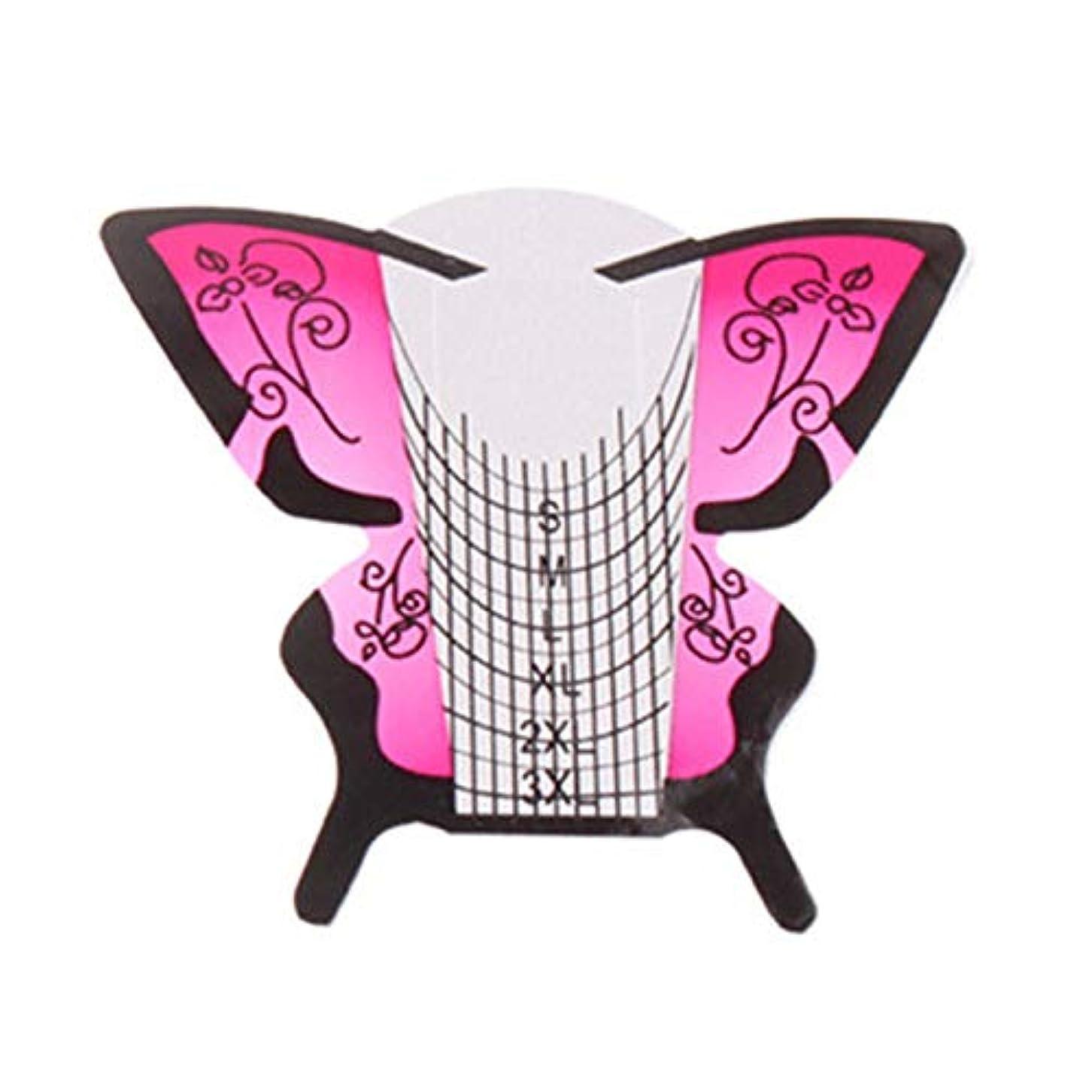 規範潮成熟したNrpfell 300個/ロール ネイルアートフォーム蝶彫刻のヒントステッカーガイド拡張アクリルUVジェルツール 給紙トレイB