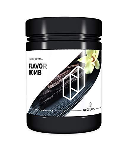 Neosupps Flavor Bomb French Vanilla | Geschmackspulver | Flavor Powder | Taste | Sweets | Snack | Mahlzeitenersatz | Shake | Protein | Abnehmen und Diät, Geschmack:French Vanilla