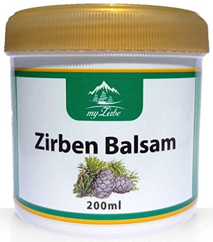 Zirbenbalsam 200ml mit Zirbenöl aus Österreich für Nacken, Muskeln, Gelenke und wohltuend bei Erkältungsbeschwerden hergestellt