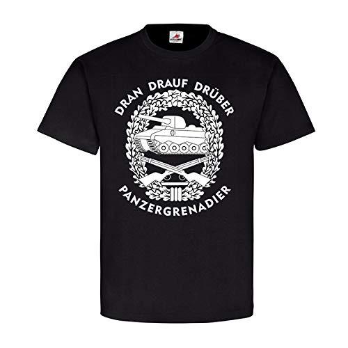 PzGren Grenni Panzergrenadier Dran-Drauf-Drüber SPZ Marder - T Shirt #17838, Farbe:Schwarz, Größe:XL