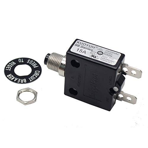 KUOYUH Circuit Breaker 98 Series 32VDC 125/250VAC 50/60Hz (1pc 15A)